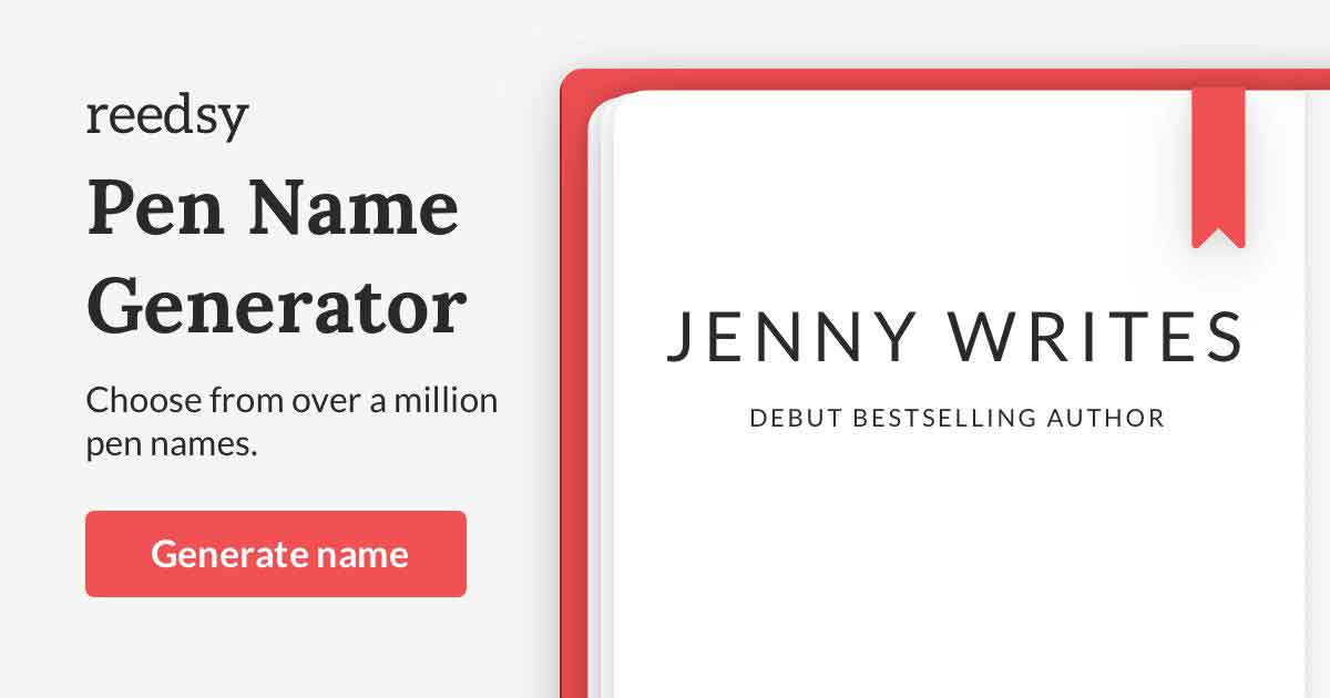Pen Name Generator • The Ultimate Bank of 1,000,000+ Pseudonyms