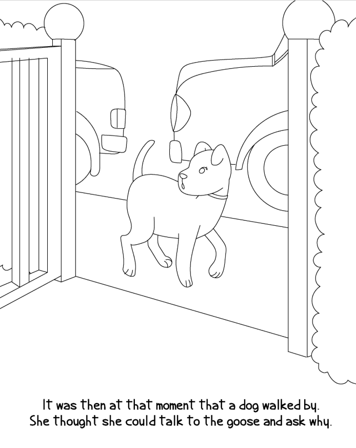 dog scene outline