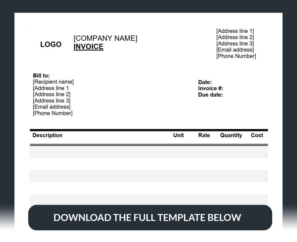 How To Write A Freelance Invoice Template