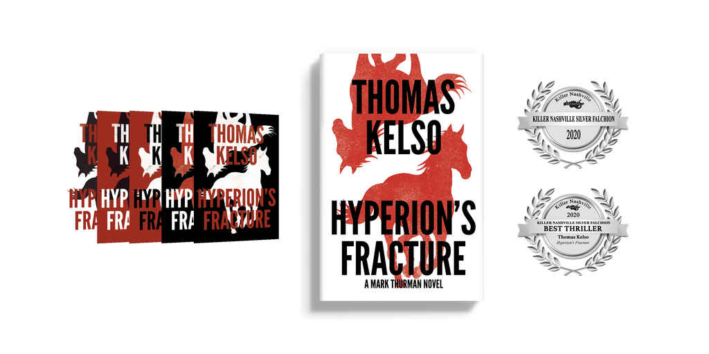 Design process of book cover Hyperion's Fracture by Thomas Kelso