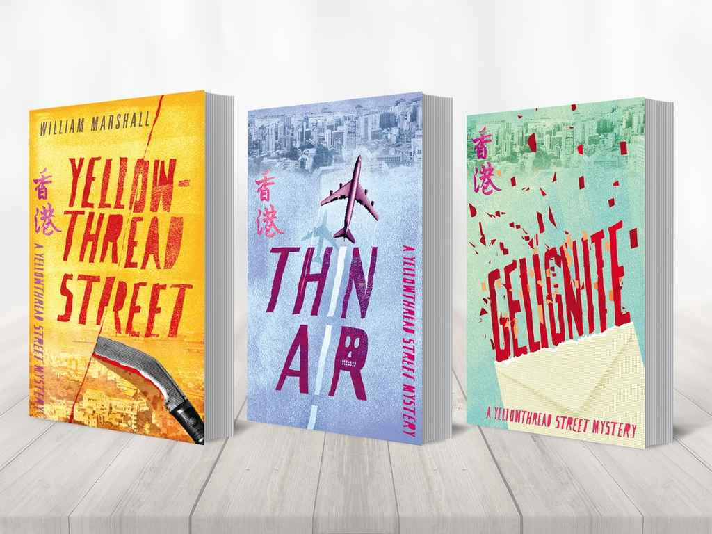 Three cover designs for the Yellowthread Street series