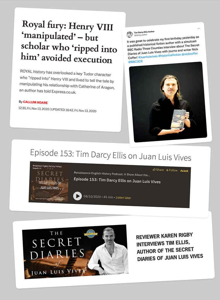 Tim Darcy Ellis publicity collage