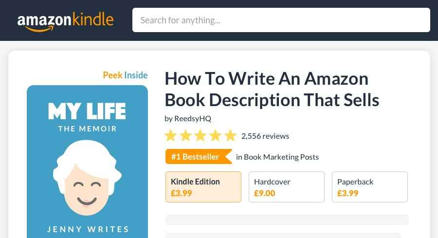 How to Write an Amazon Book Description That Sells