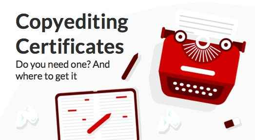 Copyediting certificates: do you need one and where to get it?