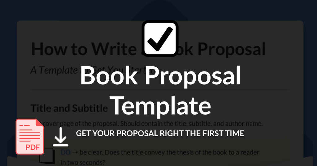 Book Proposal Template 2 (New Style)