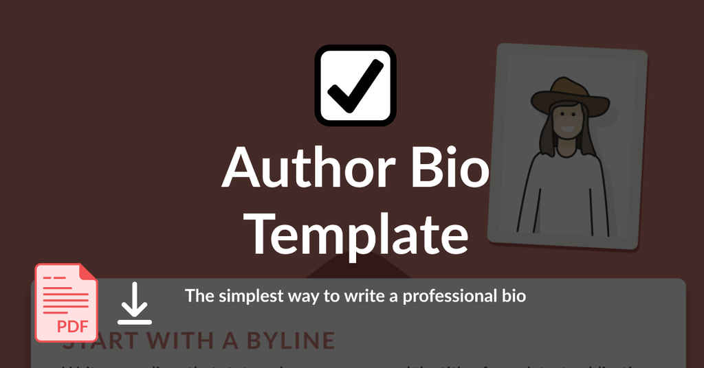 Author Bio Template 2 (New Style)