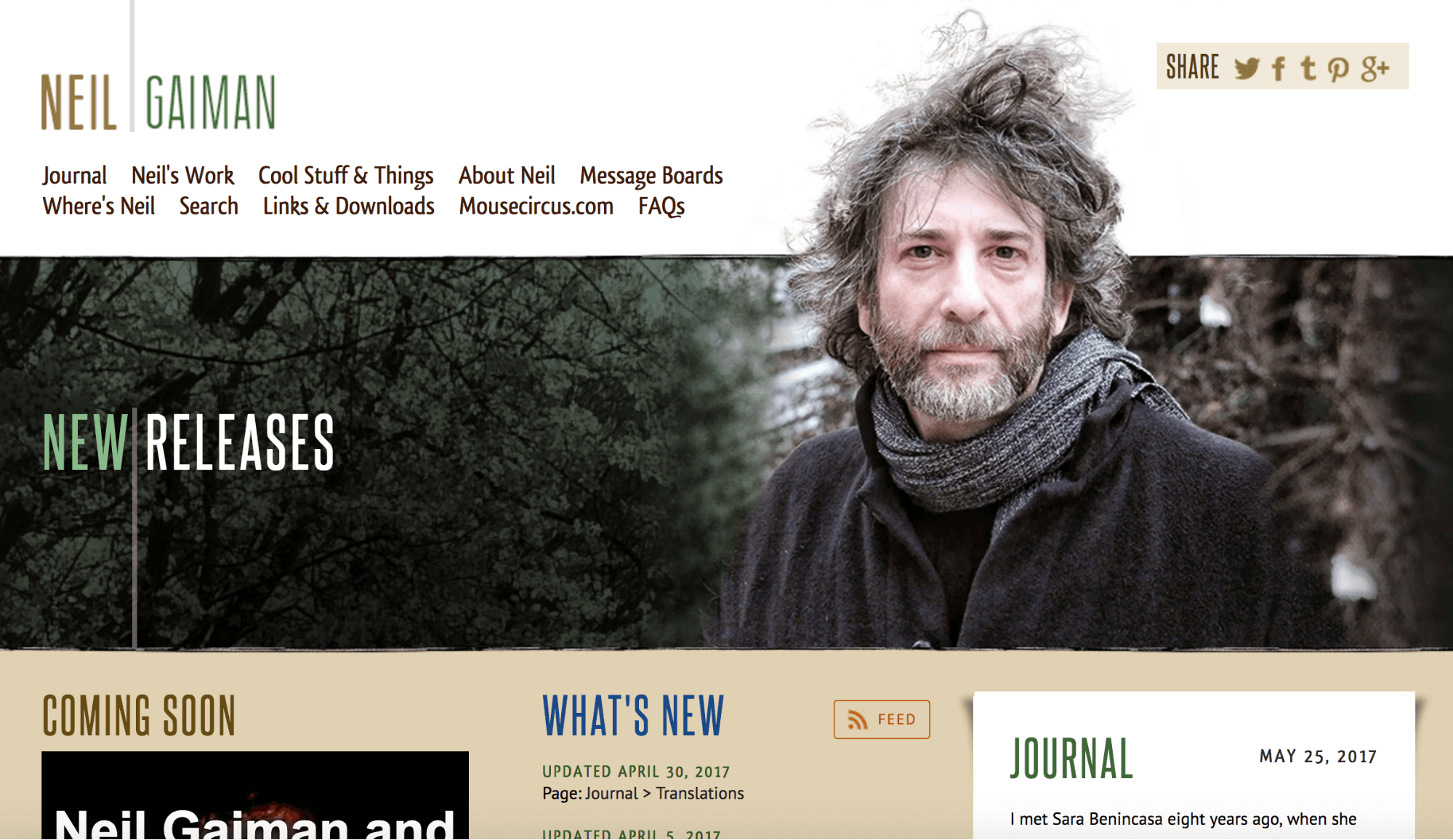 Neil Gaiman Author Website
