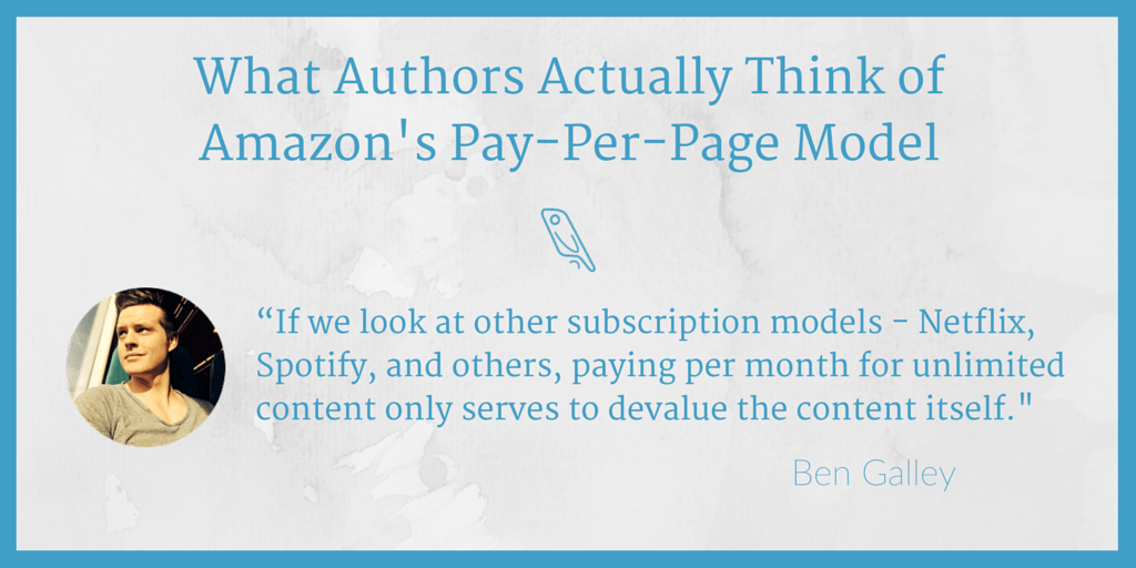 Amazon pay-per-page Ben Galley