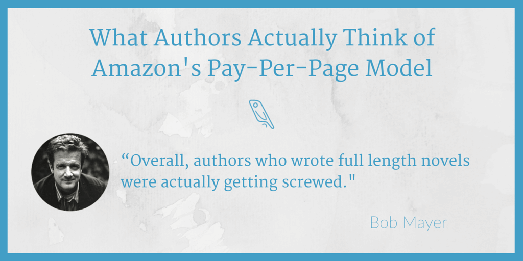 Amazon pay-per-page Bob Mayer