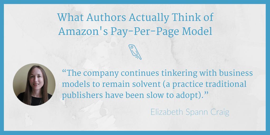 Amazon pay-per-page Elizabeth Craig