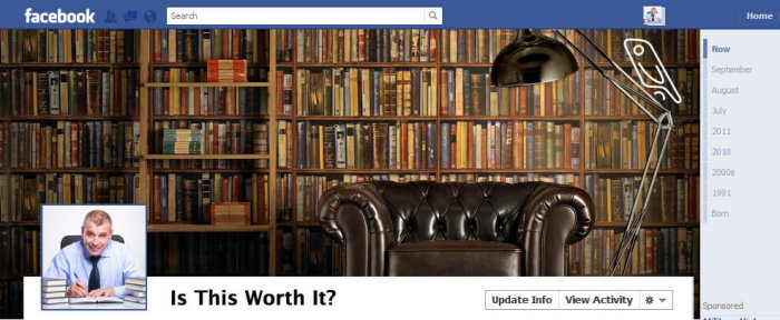 Facebook Author Page Header