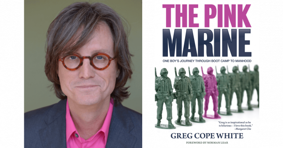 The Pink Marine by Greg Cope While cover