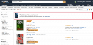 Amazon ad search results banner