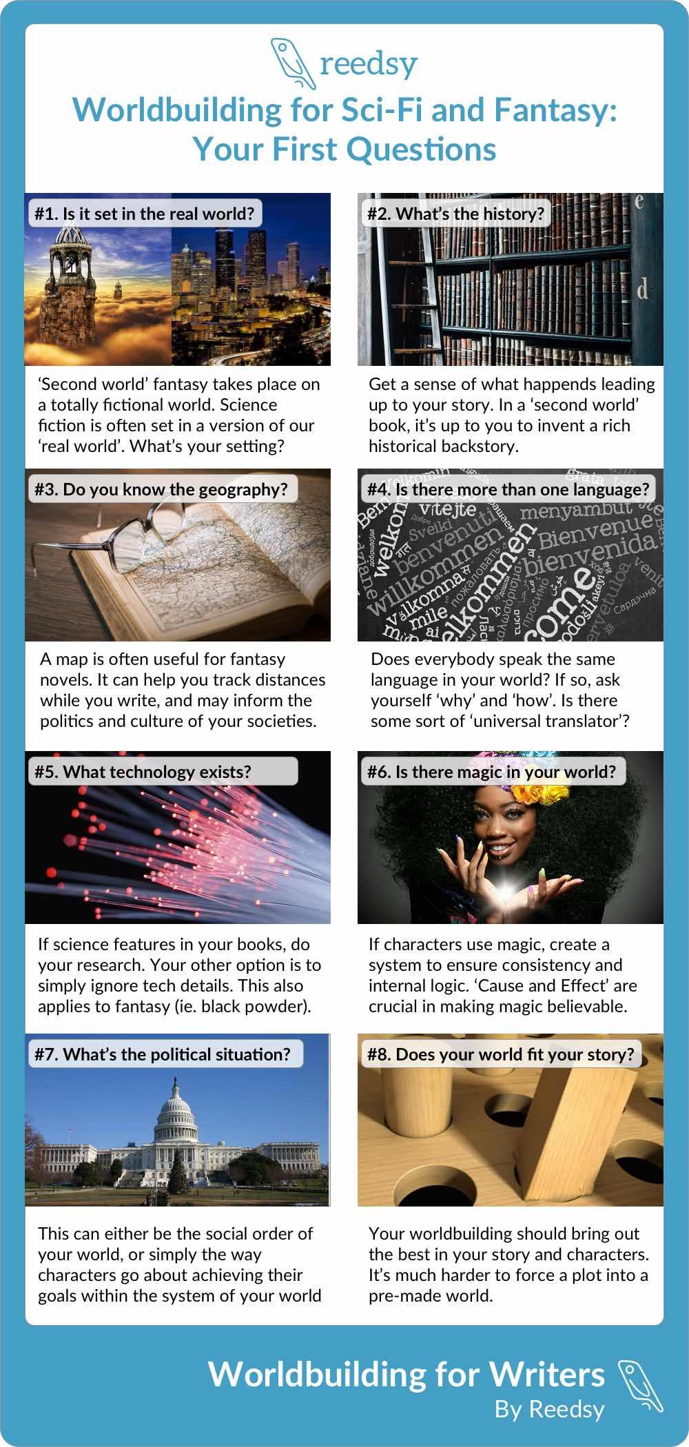 Reedsy Worldbuilding Infographic