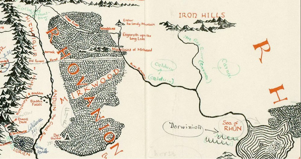 Tolkien Map Worldbuilding