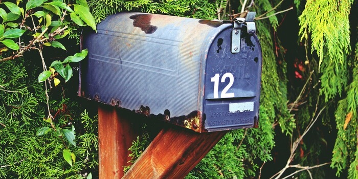 A mailbox. Send Advanced Reading Copies