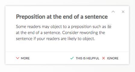Preposition Grammarly