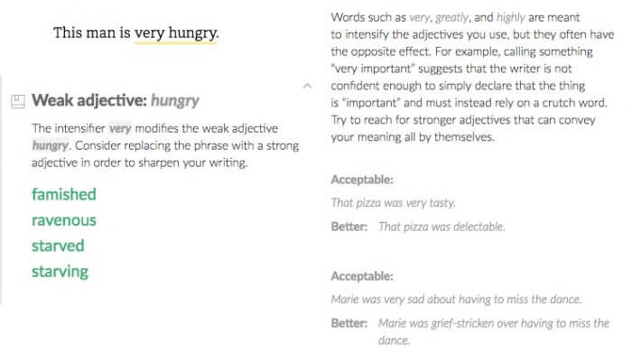 Grammarly Very Hungry