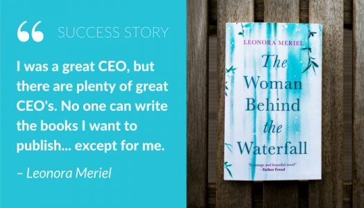 CEO and Novelist Leonara Meriel quote and book cover
