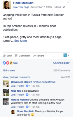 Write what you know: facebook ad