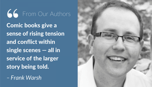 """Author Frank Warsh, """"Comic books give a sense of rising tension"""""""