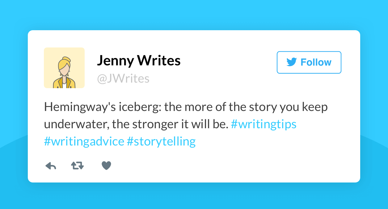 great writing tips for authors on twitter • reedsy