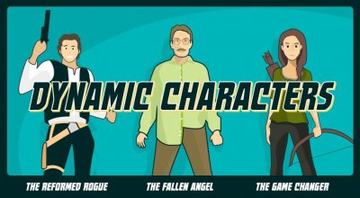 dynamic characters blog header