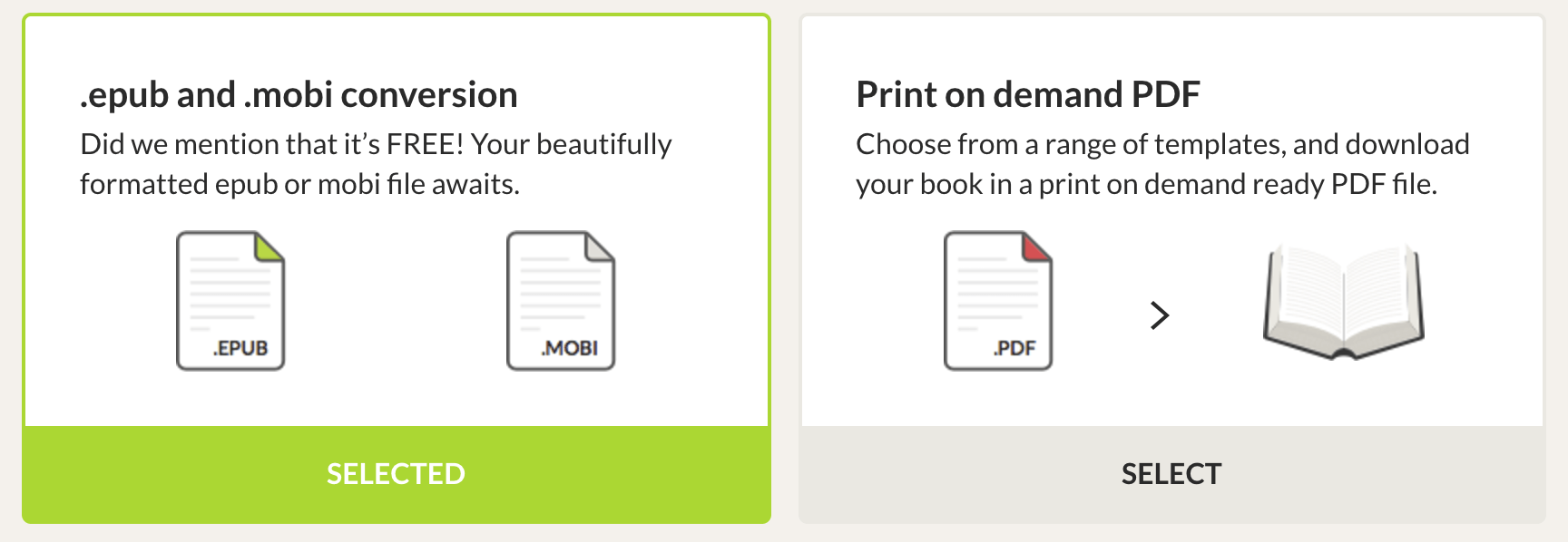 EPUB and PDF conversion