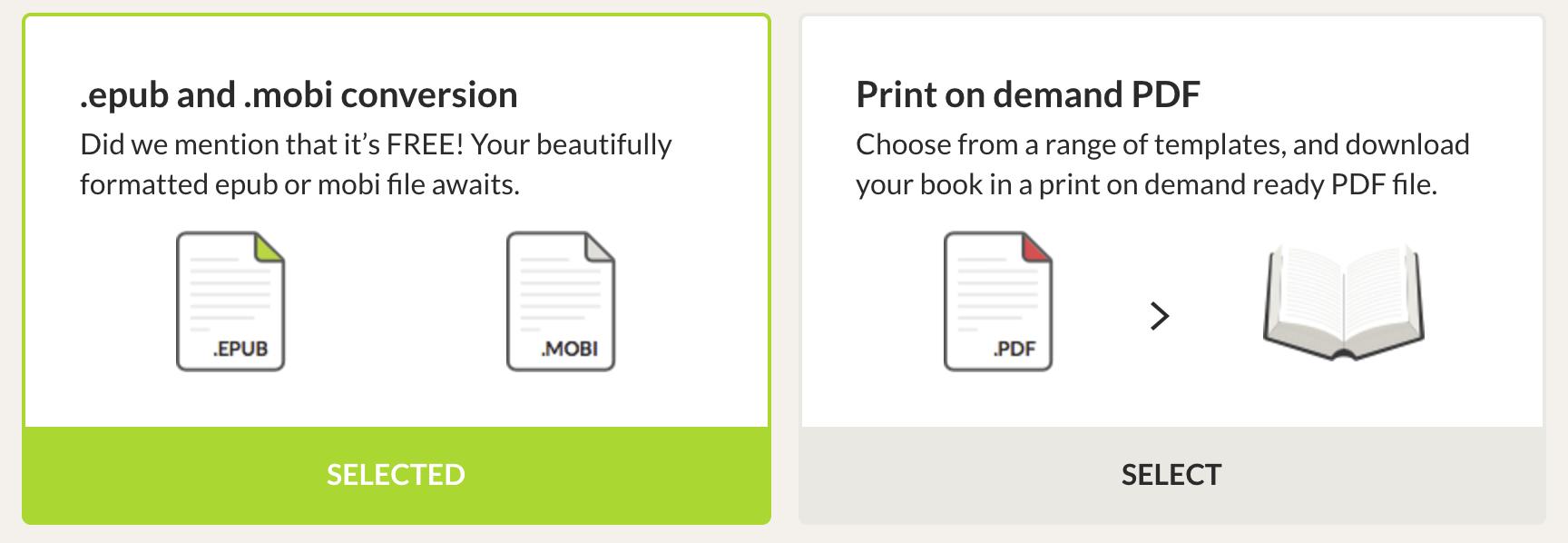 EPUB and PDF conversion