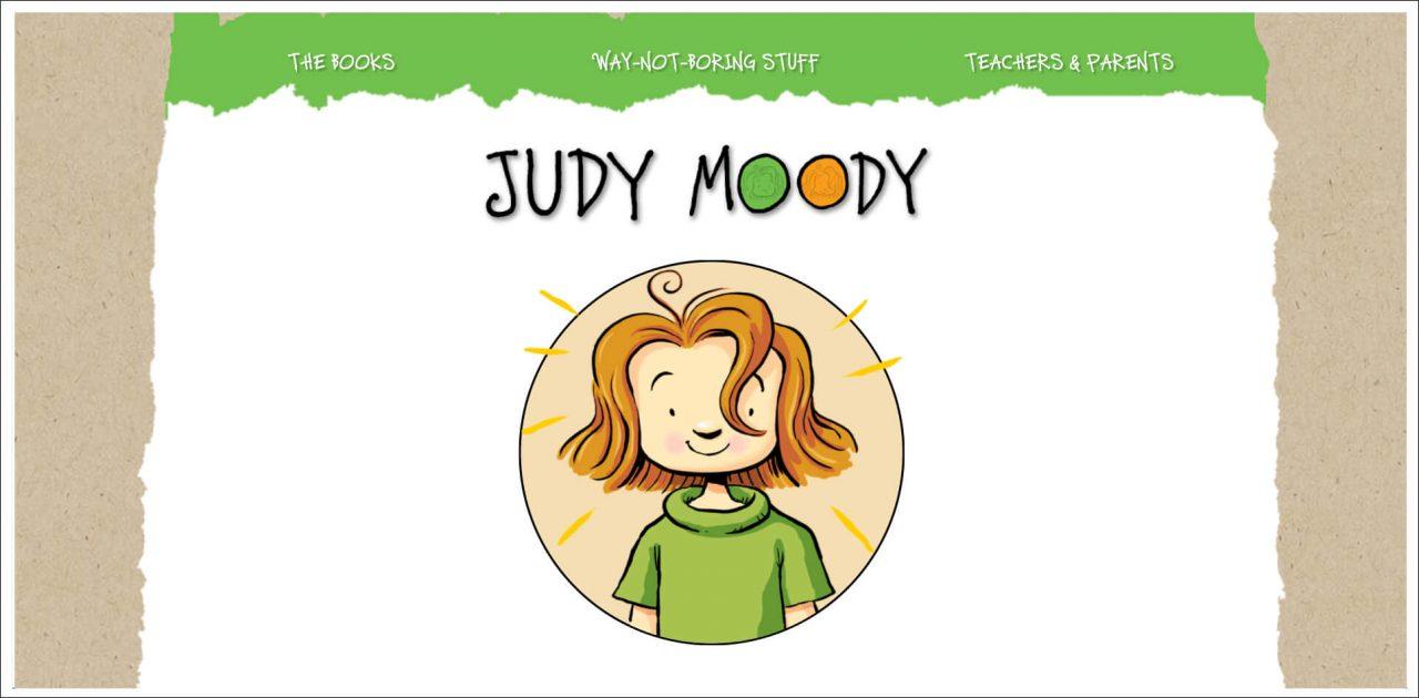 11 Author Websites That Get It Right - Judy Moody