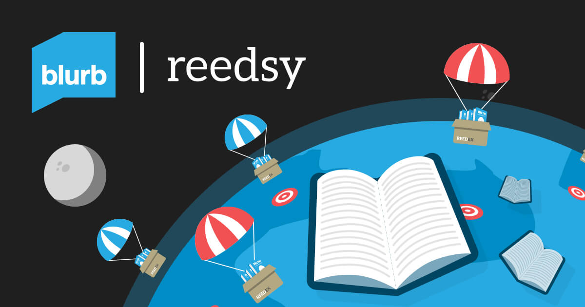 print and distribute your book with blurb and reedsy