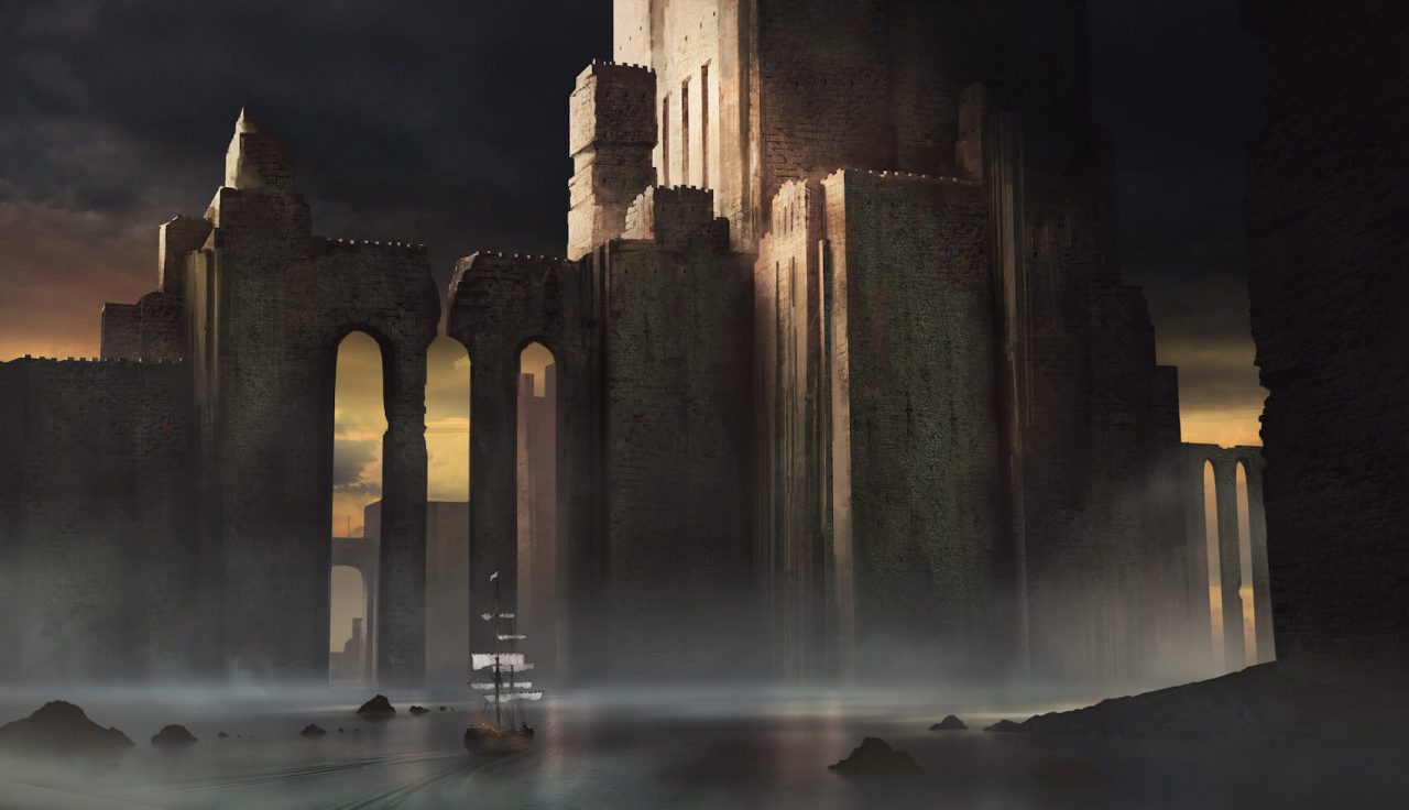 Castle Ruins, art by Jeff Brown
