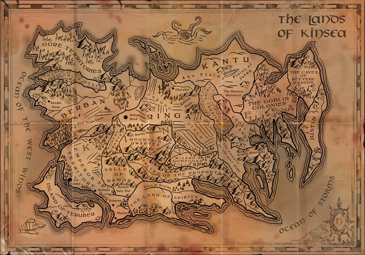 Writing Fantasy Kinsea Map