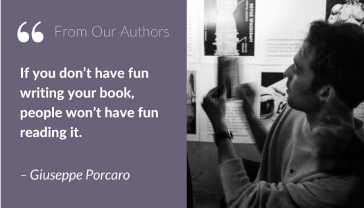 From our authors- Guiseppe Porcaro quotation - writing a novel by building a community