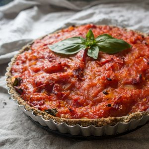 savoury tart - how to publish a cookbook