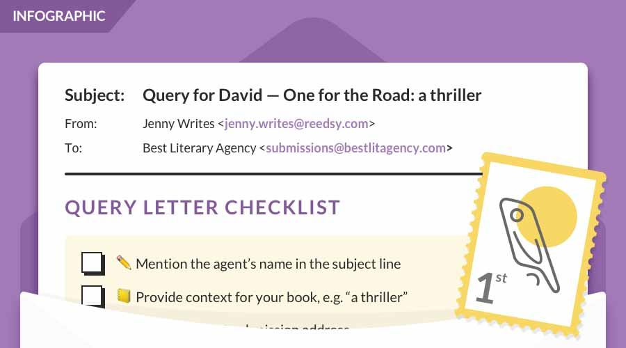 How to write a query letter in 7 simple steps with for How to write a cover letter for a literary agent