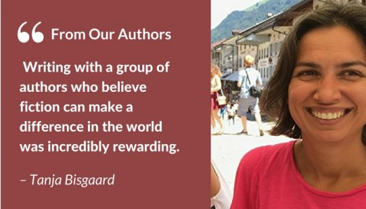 Tanja Bisgaard author with quote co-write one book with ten authors