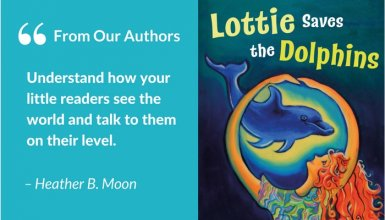 Heather B Moon, author of Lottie Saves the Dolphins children's book
