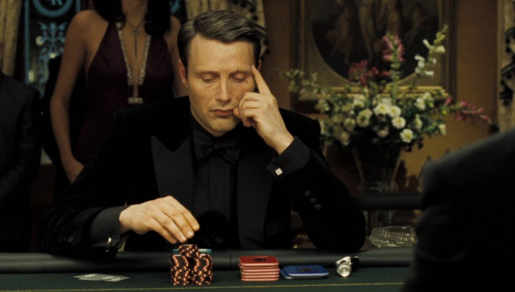 James Bond villain Le Chiffre's character development includes a nervous tic