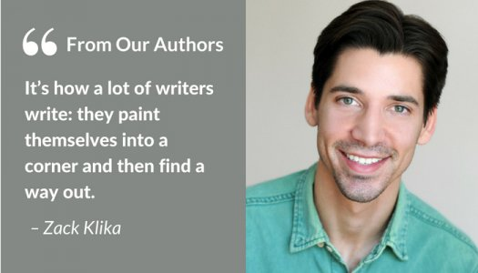 Zack Klika writing crime fiction quote