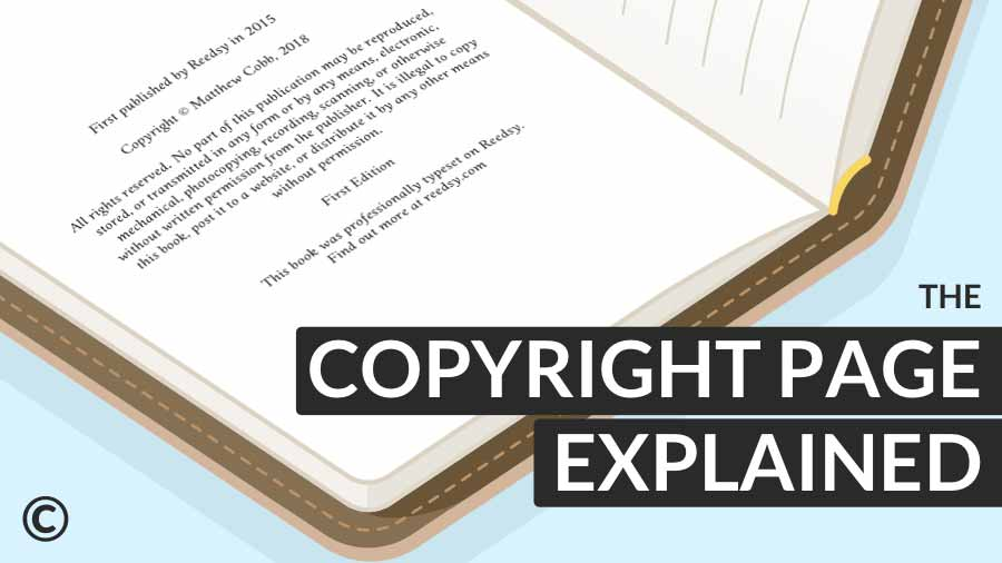 copyright page: explained