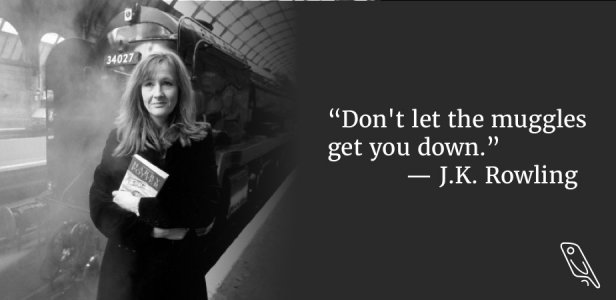 J K Rowling quote how to kill your procratsintaiton gremlins
