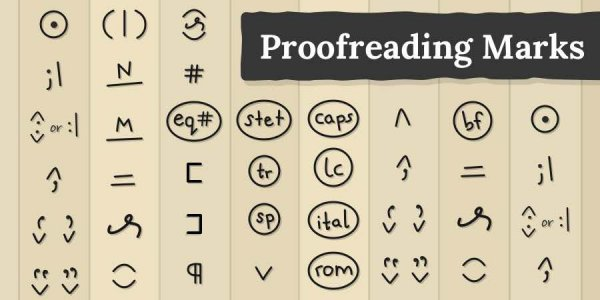 meaning of proofreading marks