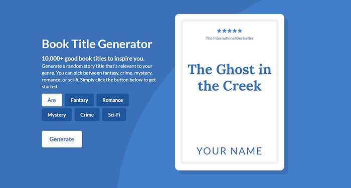 Announcing The Worlds Ultimate Book Title Generator Reedsy