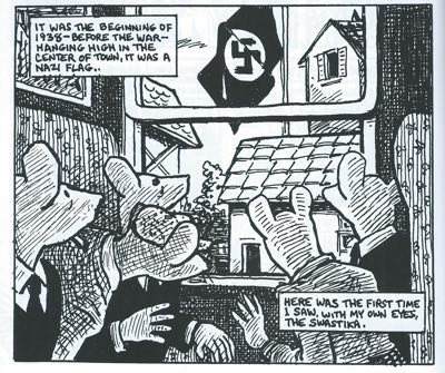 A panel from Art Spiegelman's Maus.