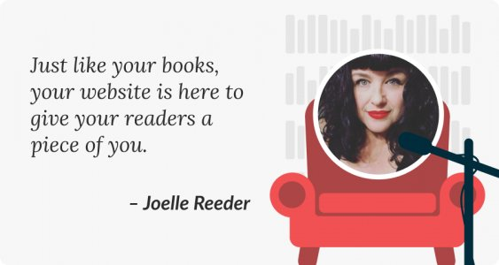 How I went from being a blogger to creating author websites Joelle Reeder Quote