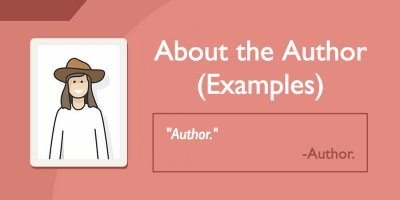 About the Author Examples (That You'll Actually Want to Read)