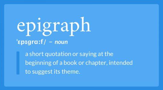 Epigraph definition