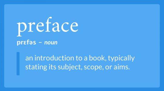 preface definition
