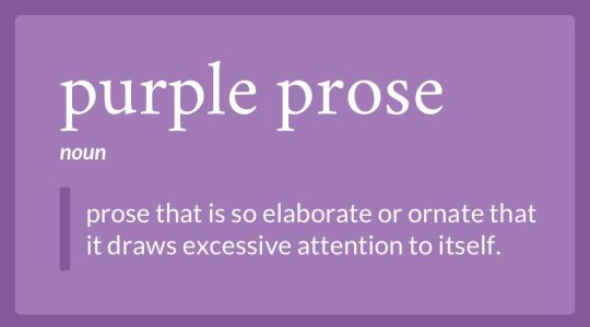 purple prose definition